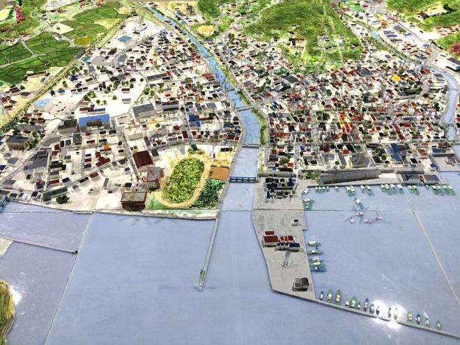「ふるさとの記憶」志津川地区の復元模型