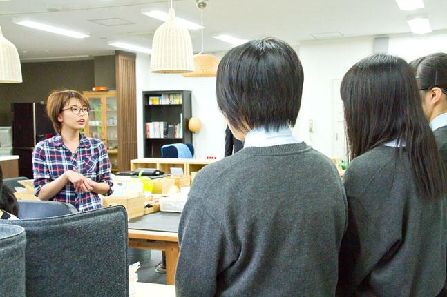 ヤマウチ会社見学 高校生