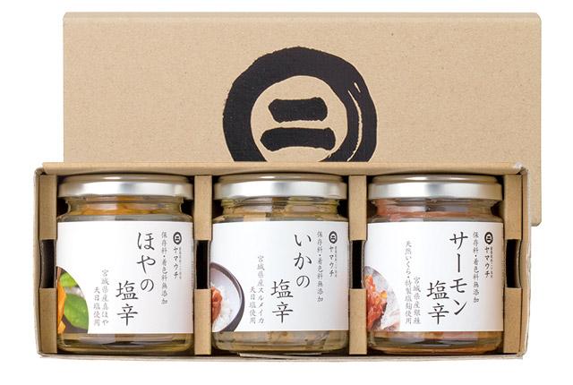 塩辛・牡蠣味噌セット 3本入