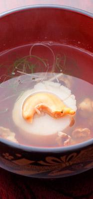 お歳暮海鮮ギフトに同封のレシピ|ホタテのお吸い物