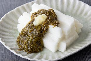<レシピ>長芋のアカモク和え