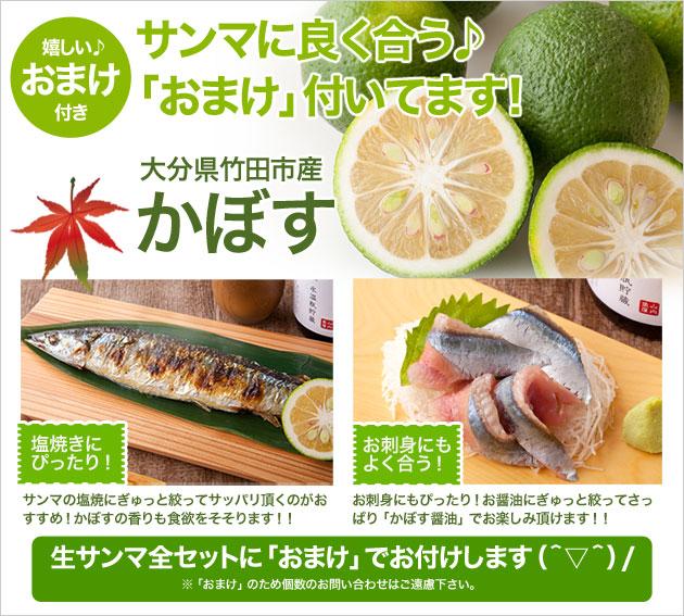 オマケで大分県竹田市産のかぼすをお付けします!