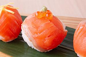 <レシピ>生風スモークサーモンの手まり寿司