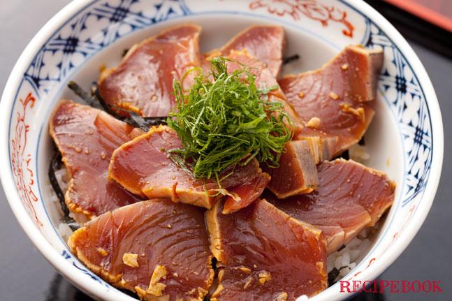 カツオの漬け丼レシピ