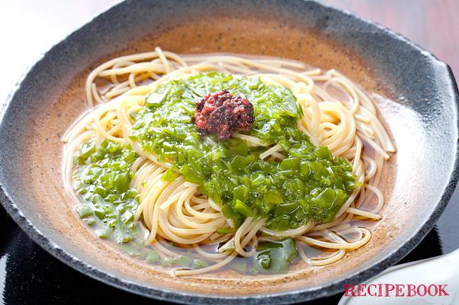 めかぶのスープパスタ レシピ