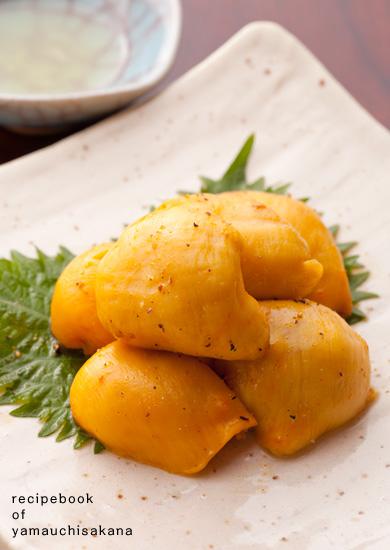 ホヤのバター焼き(レモン汁添え)