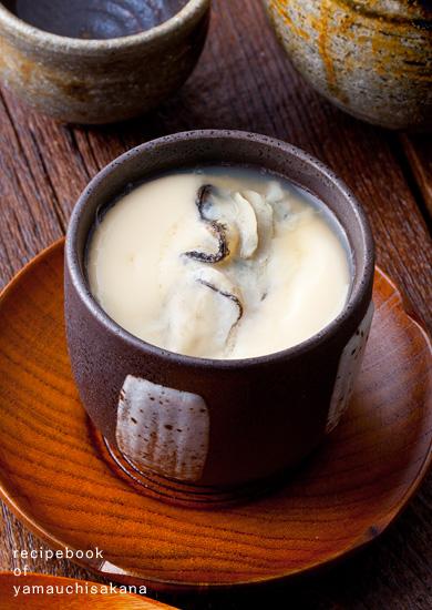 """<p class=""""sTitl"""">2015年10月27日</p> 牡蠣の茶碗蒸しレシピ"""
