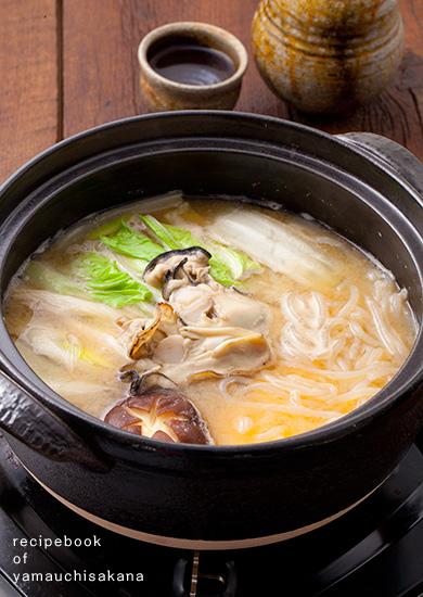 牡蠣の味噌鍋の作り方