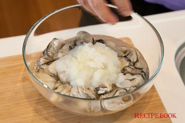 牡蠣の下処理方法