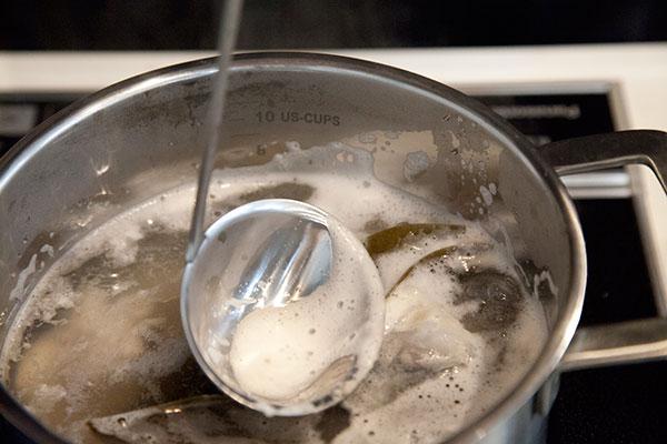 タラのアラ汁の作り方5