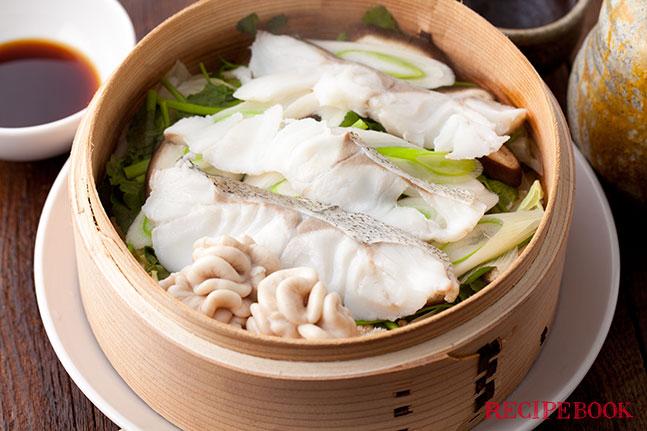 鱈と野菜のせいろ蒸し