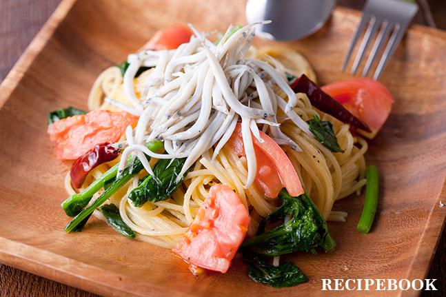 しらすと春野菜のパスタ