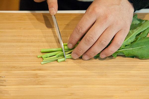 しらすと春野菜のパスタレシピ1