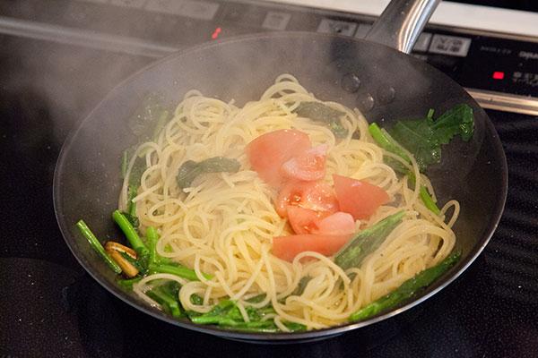 しらすと春野菜のパスタレシピ7
