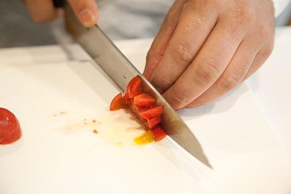 ホヤとトマトの冷製パスタレシピ2