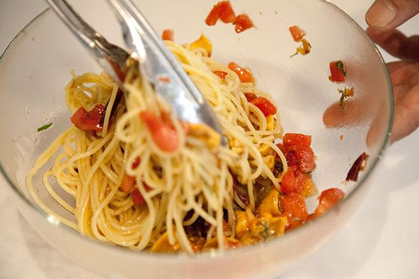 ホヤとトマトの冷製パスタレシピ8