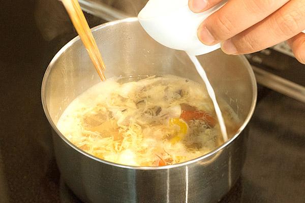 牡蠣ピクルスの酸辣湯(サンラータン)レシピ5