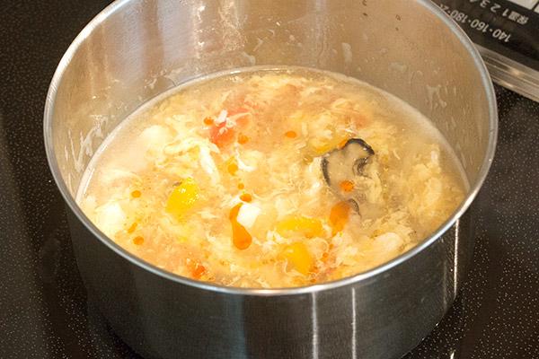 牡蠣ピクルスの酸辣湯(サンラータン)レシピ6