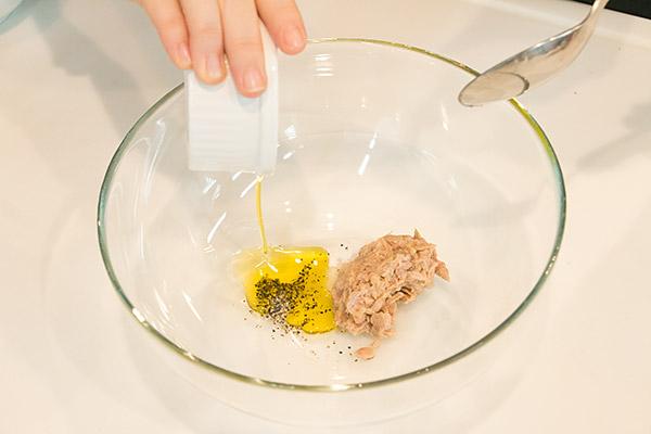 牡蠣ピクルスとツナの冷製パスタレシピ2