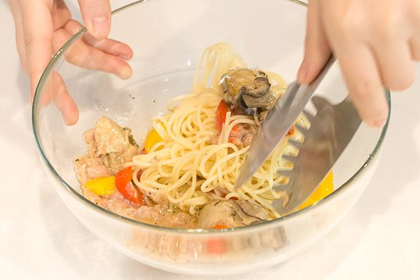 牡蠣ピクルスとツナの冷製パスタレシピ7