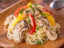 牡蠣ピクルスを使ったレシピ ピクルスとツナの冷製パスタ