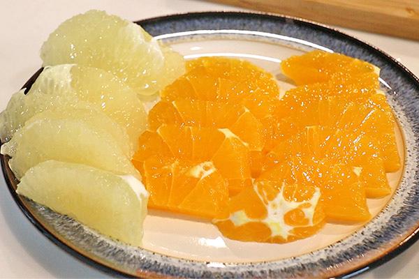 タコと柑橘類のカルパッチョ レシピ1