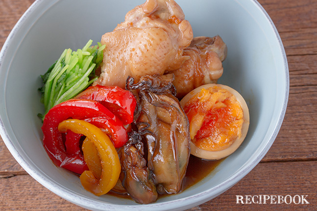 牡蠣ピクルスと鶏手羽元の煮物