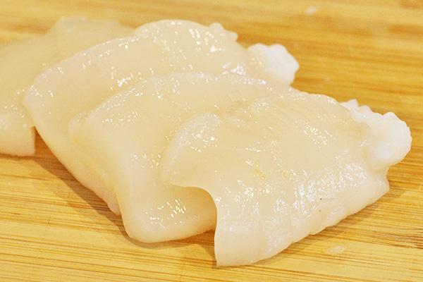 ホタテ刺身 切り方レシピ3