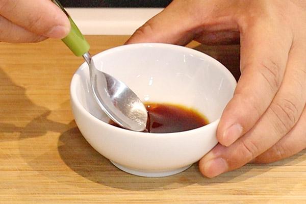 いか塩辛バター焼き丼レシピ1
