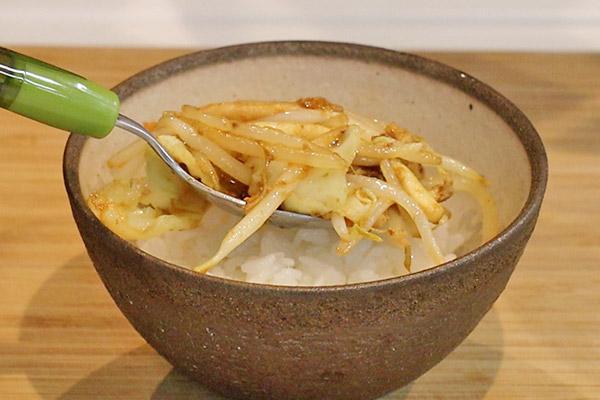いか塩辛バター焼き丼レシピ6