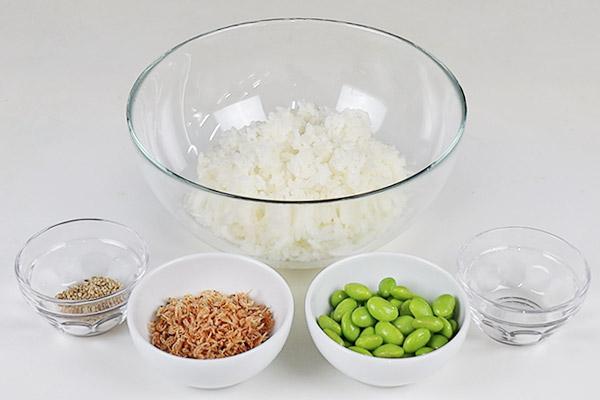 三陸えびと枝豆のおにぎり レシピ